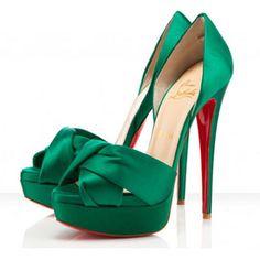 Christian Louboutin. green goddess, shoe. Love!