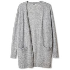 Manama knit cardigan (1.095 ARS) ❤ liked on Polyvore featuring tops, cardigans, sweaters, jackets, outerwear, short-sleeve cardigan, long sleeve knit cardigan, sleeve top, pocket cardigan and cardigan top
