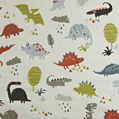 Prestigious Textiles Playtime Dino Fabric Collection 5715/400 5715/400