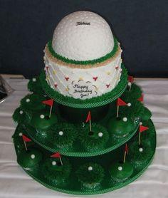 Golf Ball cake BIRTHDAY CAKES Pinterest Golf ball cake Golf