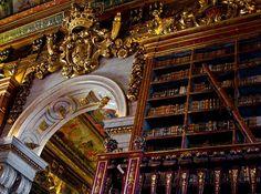 Library Joanina, Universidade de Coimbra, Portugal by Bru Grassi,
