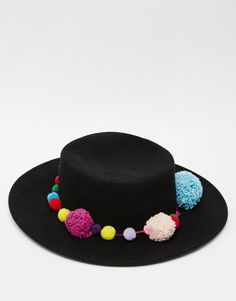Image 3 of Catarzi Matador Felt Wide Brim Hat with Pom Pom Band Sombreros  De Ala 8193acf95b6