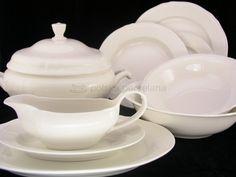 Porcelana, ceramika, serwisy obiadowe, filiżanki, sztućce, talerze - Serwis obiadowy Alba Castel NBC (Karolina)