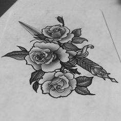 Свободный эскиз #тату #эскиз #тольятти #арт #розы #кинжал #нож #карандаш #олдскул #татуировка #tattoo #tatts #tattoopins #art #sketch #rose #knife #oldschool #oldschooltattoo #tlt #pens #tattooart #illustration #design #designtattoo
