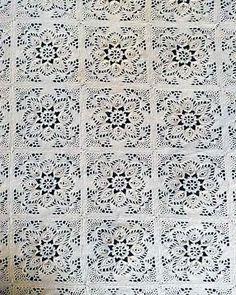 Ravelry: Provincial Crochet Bedspread Pattern pattern by Maggie Weldon Crochet Bedspread Pattern, Crochet Quilt, Crochet Tablecloth, Afghan Crochet Patterns, Crochet Squares, Crochet Home, Crochet Granny, Crochet Motif, Crochet Doilies