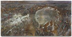 Anselm Kiefer  le dormeur du val     2014     Acrylic, emulsion, oil, shellac, chalk and sediment of electrolysis on photograph mounted on canvas     190 x 380 cm (74