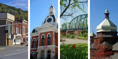 Selected landmark images from different towns featured in WPSU's Our Town series.