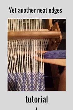 Ensure neat edges every time! 2019 In this free tutorial I show you how to avoid skipped selvedge threads to make sure your edges look as neat as your weaving does. The post Ensure neat edges every time! 2019 appeared first on Weaving ideas. Tablet Weaving, Inkle Weaving, Weaving Tools, Weaving Projects, Weaving Art, Hand Weaving, Weaving Textiles, Weaving Patterns, Teen Hairstyles
