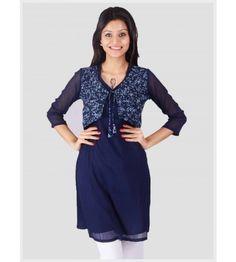 Jacket style Kurti gives you the Punjabi look!