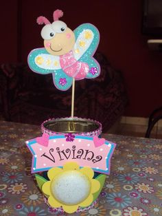 portalapiceros Tin Can Crafts, Clay Crafts, Diy And Crafts, Crafts For Kids, Arts And Crafts, Girls 3rd Birthday, Butterfly Birthday Party, Flower Pens, Bazaar Ideas