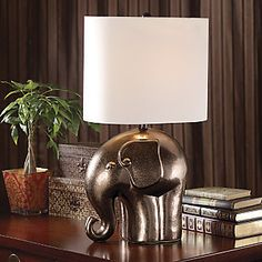 Elephant Lamp from Midnight Velvet®