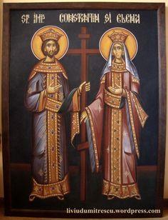 Helen - May 21 Religion, Religious Icons, Catholic Saints, Sgraffito, Byzantine, Emperor, St Constantine, Images, Darth Vader