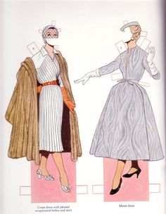 Miss Missy Paper Dolls: Classic Fashions of Christian Dior for Renee and Lisa Barbie Paper Dolls, Vintage Paper Dolls, Paper Fashion, Fashion Art, Christian Dior, Illustration Mode, Illustrations, Paper Toys, Paper Crafts