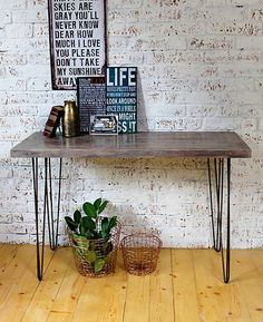 Konzolový stôl SCANDI OLD BROWN NO.1