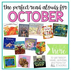12 perfect read alouds for October {Mrs. Plemons' Kindergarten}