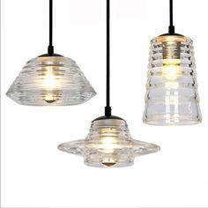 Simple Vintage Crystal Glass Led E27 Pendant Light For Dining Room Bar Restaurant A/b/c Styles Ac 80-265v 1425