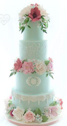 Wedding Cakes - Whimsical & Floral The Whimsical Cakery - Elegant bespoke wedding cakes and dessert tables. Wedding Cakes Northamptonshire. Sugar flowers, green cake