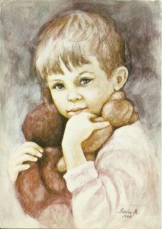 untitled portrait by Danuta Muszynska-Zamorska