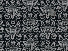 Cotton Quilt Fabric Delightful Damask Gray And Black - product image