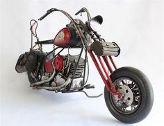 Kırmızı Indian Model Custom Chopper - KLC import