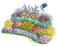 No-Fuss Bird and Butterfly Garden Plan ~ possible new plan for 2013