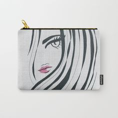 Buy Girl Power Black and White Carry-All Pouch by lorimoro. Worldwide shipping available at Society6.com. Just one of millions of high quality products available.