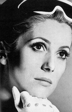 Catherine Deneuve by David Bailey for Vogue UK, 1967.