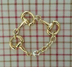 Riding in Style #luckyponyshop #horsebitbracelet https://www.etsy.com/listing/204773243/horse-bit-bracelet-large-gold-bit