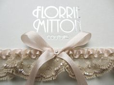 FREE SHIPPING on all orders over $60 for 3 days only with promo code JULYFREE beaded lace garter with silk by florriemitton on Etsy