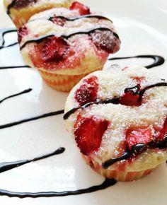 Strawberry muffin Epres muffin   Recept a www.facebook.com/pontminok oldalán