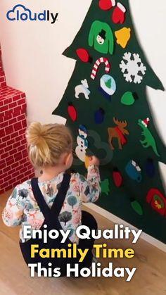 Diy Felt Christmas Tree, Homemade Christmas Gifts, Christmas Games, Christmas Activities, Christmas Tree Decorations, Christmas Crafts, Christmas Ornaments, Xmas, Diy For Kids
