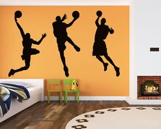 This wall decal is about a set of 3 basketball men. It is a kind of silhouette wall decal. You may apply this wall decal in your living room, bedroom as well as in the office. It must be very innovative and fantastic. SIZE & PRICE: Size 1: Single size: