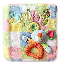Baby Blanket + Rattle/Toy: perfect little baby gift!