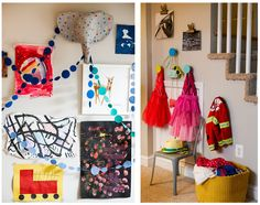 cool playroom ideas: Making a dress-up corner even in a small space.