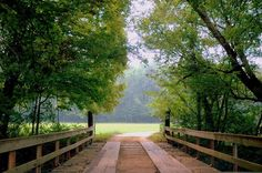 nice wooden bridge in the country..