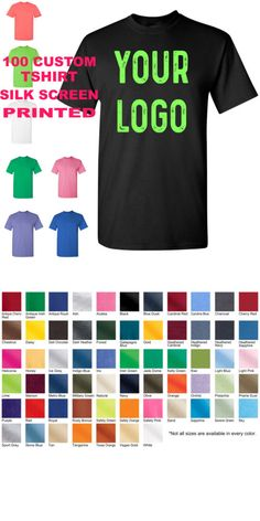 a8a4ece282f14 T-Shirts 155193  100 Custom Silk Screen Printed T Shirt Your Logo For  School Church Event Tee -  BUY IT NOW ONLY   320 on eBay!