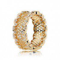 Honeycomb Lace Ring - PANDORA Shine™