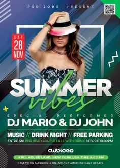 Download the Free Summer Party Vibes Flyer Template!