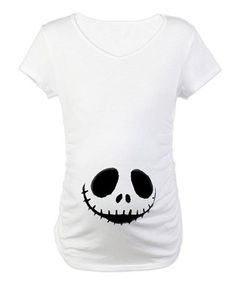 Take a look at this White Smiling Skeleton Maternity Tee by CafePress on #zulily today!
