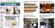 O Globo com novo projeto gráfico
