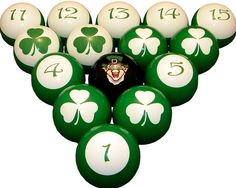 Vigma Lucky Irish Billiard Ball Set - Awesome Vigma Lucky Irish Billiard Ball Set will be the envy of your friends. Vigma Lucky Irish Billiard Ball Set with cool custom graphics make a great gift idea. Valley Pool Table, Billiard Supplies, Pool Tables For Sale, Man Cave Lighting, Billiard Accessories, Ultimate Man Cave, Billiards Pool, Man Cave Home Bar, Luck Of The Irish