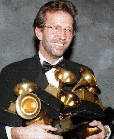 Father and Son at the Top of Their Careers: Eric Clapton collected an armful of Grammys in 1993.