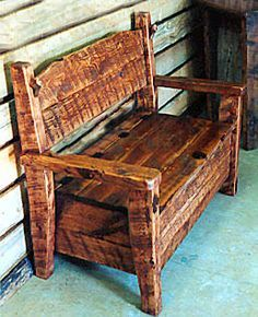 Barnwood Boot Bench with storage under seat
