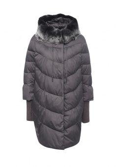 Куртка утепленная, Clasna, цвет: серый. Артикул: CL016EWNLR83. Женская одежда / Верхняя одежда / Пуховики и зимние куртки