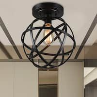 Emrael Globe Ceiling Lamp Antique Black Includes Edison Bulb (Antique Black Globe Ceiling Lamp), Warehouse of Tiffany Led Flush Mount, Flush Mount Ceiling, Lighting Store, Cool Lighting, Island Lighting, Kitchen Lighting, Lighting Ideas, Hallway Lighting, Industrial Lighting