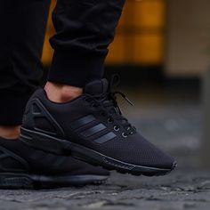 Triple Black Adidas ZX Flux -- #Adidas #TennisShoes #Sneakers #shoes #clothes #clothing