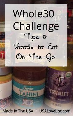 Whole 30 Challenge Tips | Whole 30 snacks | Organic snacks | Vegan snacks