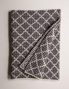 mosaic blanket knitting pattern