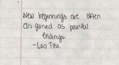 New Beginnings ... Lao Tsu