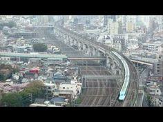 新幹線の見える風景(北とぴあより) - YouTube